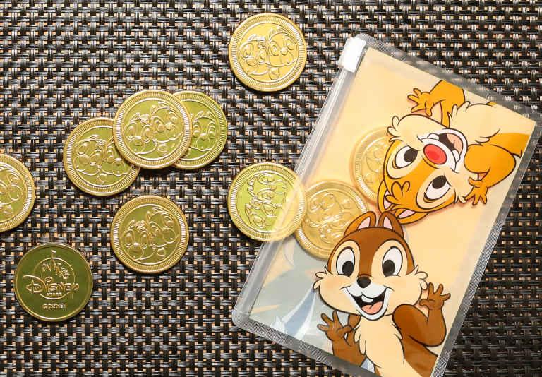 芥川製菓のコインチョコレート