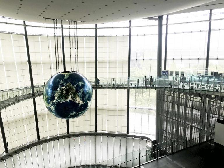 日本科学未来館 ジオコスモス オーバルブリッジ