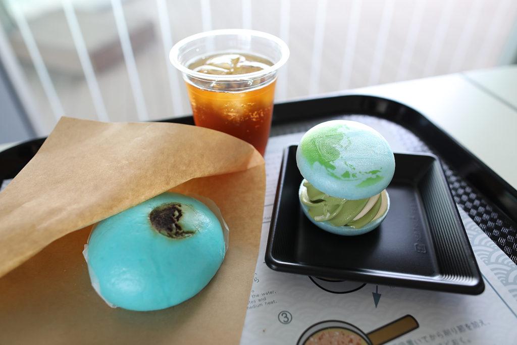 日本科学未来館 ミライカンキッチン 地球まんと地球もなかソフトクリーム