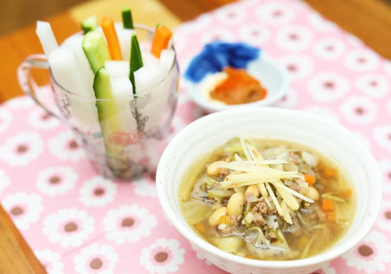 セブンイレブンの生姜スープを自分で作る 完成